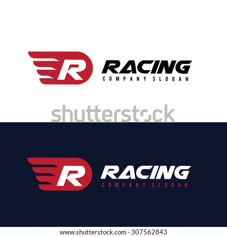 r letter logo  automotive car