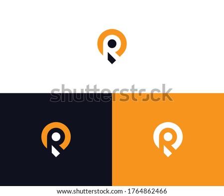 R location logo design vector Stock fotó ©