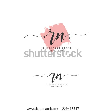 R N RN Initial logo template vector Stok fotoğraf ©