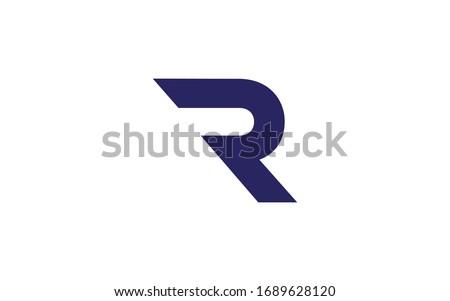 R or RR Uppercase Letter Initial Logo Design Template Vector Illustration Stock fotó ©