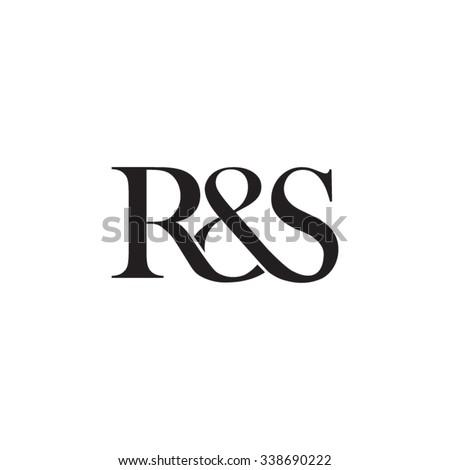 R&S Initial logo. Ampersand monogram logo Stock fotó ©