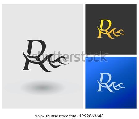 R sea beach logo monogram modern luxury template Photo stock ©