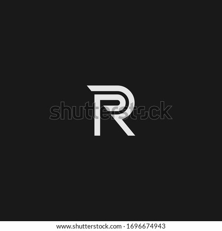 R single letter logo and icon designs Photo stock ©