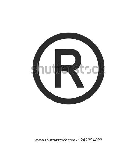 R symbol copyright vector image Stock fotó ©