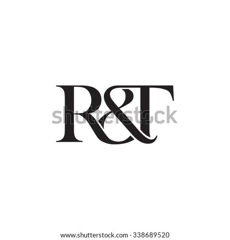 R&T Initial logo. Ampersand monogram logo Stock fotó ©