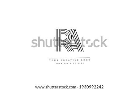 RA AR abstract vector logo monogram template Stock fotó ©