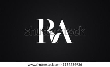 RA Letter Logo Design Template Vector Stock fotó ©