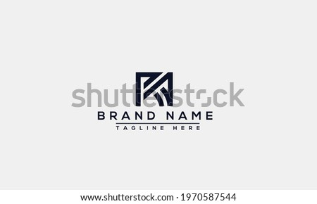 RA Logo Design Template Vector Graphic Branding Element. Stock fotó ©