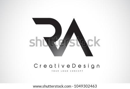 RA R A Letter Logo Design in Black Colors. Creative Modern Letters Vector Icon Logo Illustration. Stock fotó ©