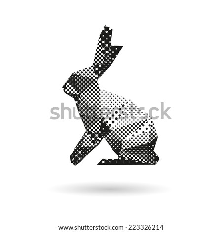 rabbit abstract isolated on a