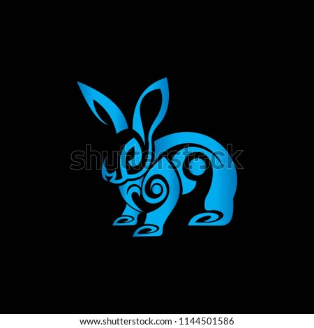 rabbit animal for logo software