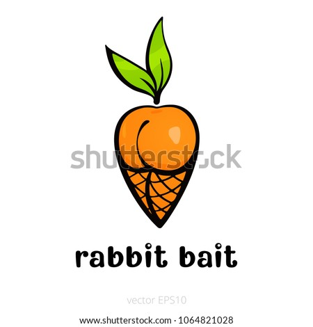 rabbit bait funny drawn carrot