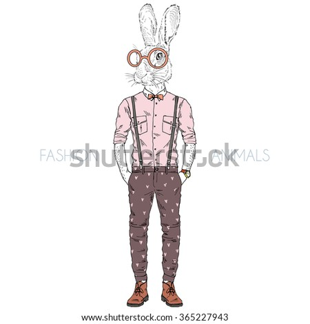 rabbit boy hipster  fashion
