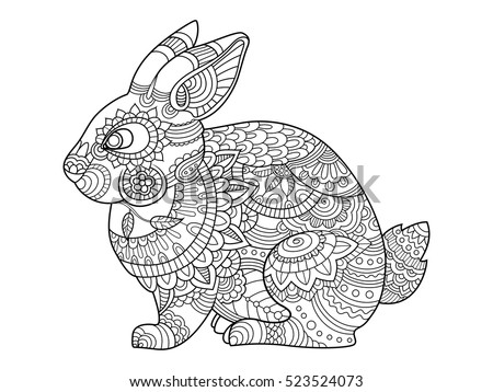 rabbit bunny coloring book for