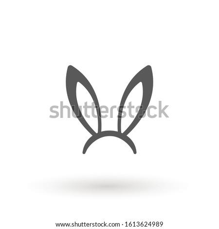 rabbit  easter bunny ears icon