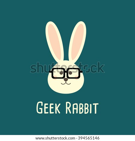 rabbit geek  nerd  smart