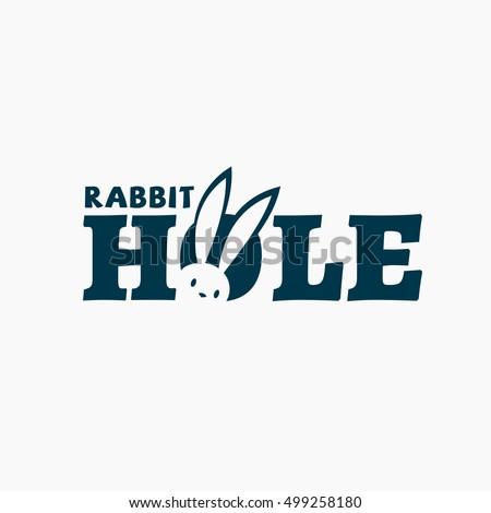 Rabbit hole logo template design. Vector illustration.