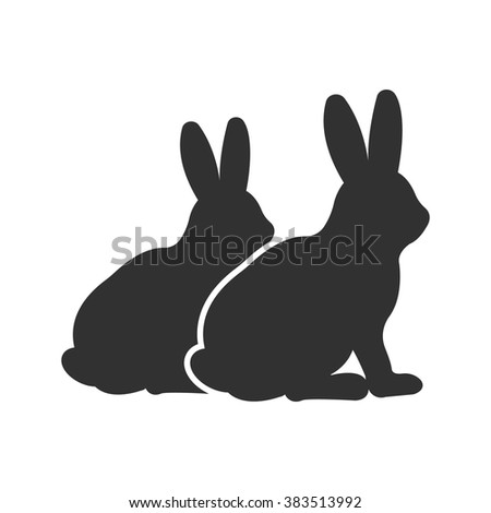 rabbit icon rabbit icon vector
