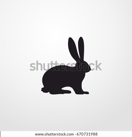rabbit icon. vector rabbit sign symbol on white background. Rabbit animal silhouette