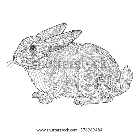 rabbit in doodle style for