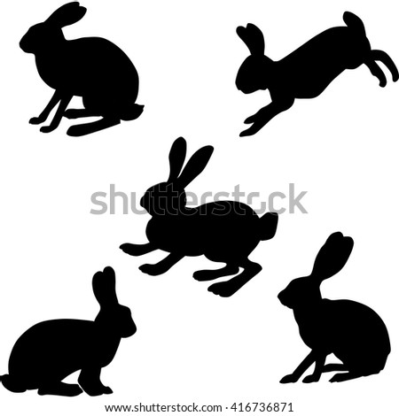 rabbit silhouette clipart