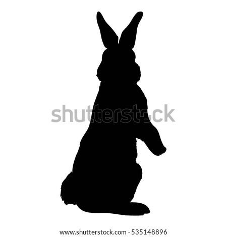 sitting rabbit silhouette