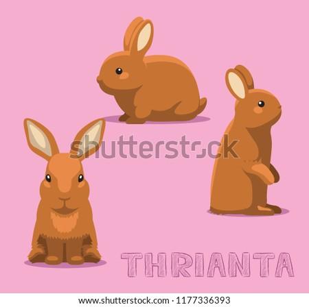 Rabbit Thrianta Cartoon Vector Illustration