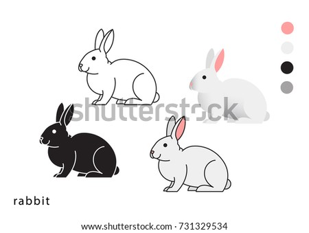 rabbit vector icon logo