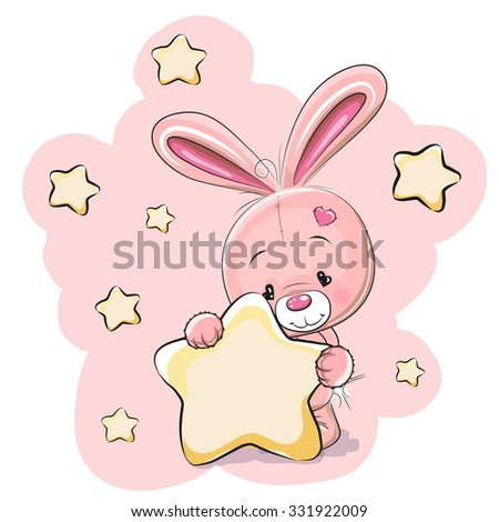 rabbit with a star on a stars