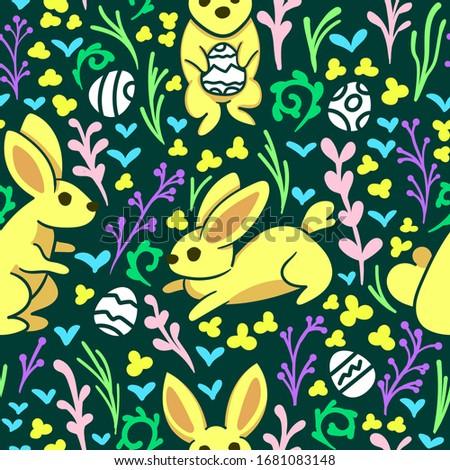 rabbits animal pattern  happy