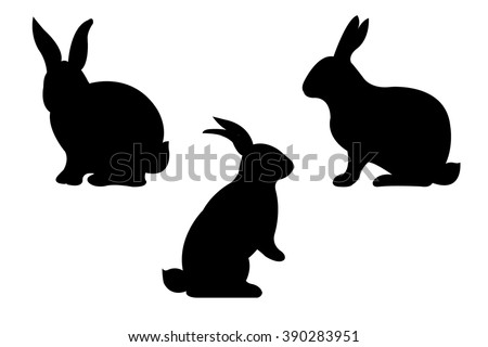 Rabbits, Vector Illustration