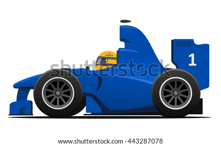 race car cartoon style vector
