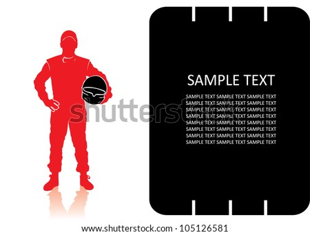 Race car driver - vector background
