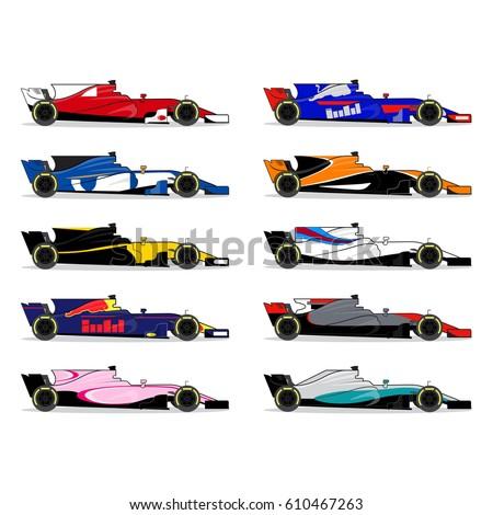 race car set formula one
