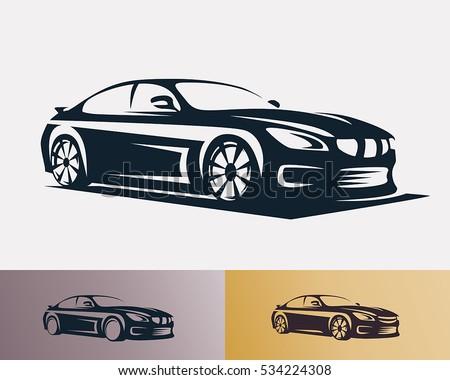 race car symbol logo template