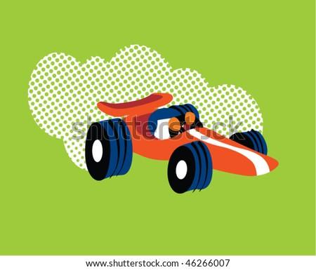 race car cartoon. stock vector : race car vector