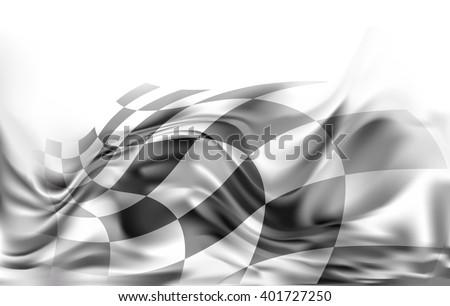race flag  background vector illustration