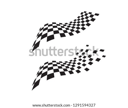 Race flag icon, simple design illustration vector #1291594327