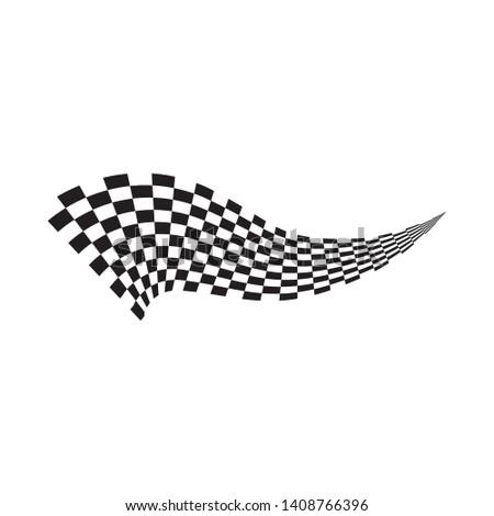 Race flag icon, simple design illustration vector #1408766396