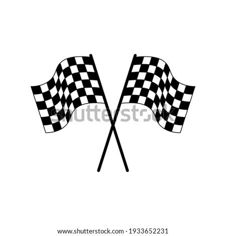 Race Flag Symbol Icon Vector Illustration. Checkered flag icon.