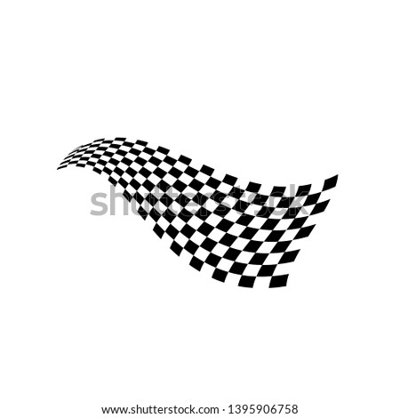 Race flag vector icon symbols. simple design checkered flag logo template #1395906758