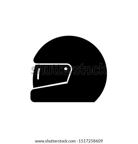 Race helmet icon, vector illustration. Flat design style. vector race helmet icon illustration isolated on white background, race helmet icon Eps10. race helmet icons graphic design vector symbols.