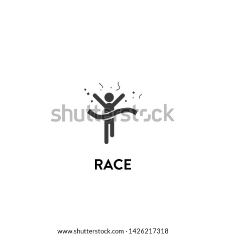 race icon vector. race vector graphic illustration