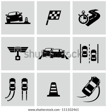 Race icons set
