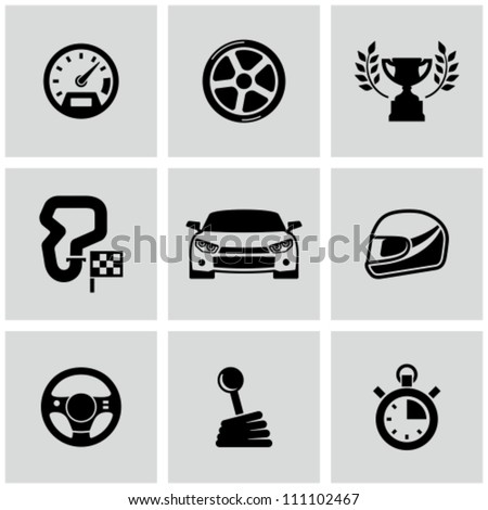 Race icons set  Race Car Icon