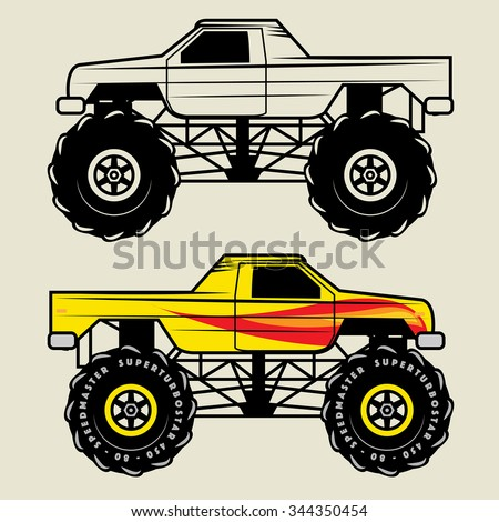 race truck  vector illustration
