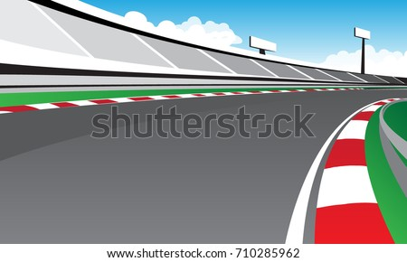 racetrack at day vector