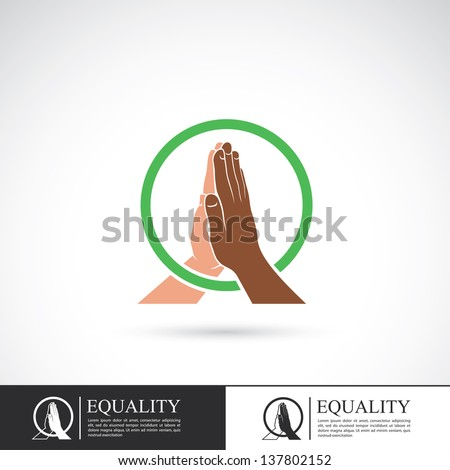 Racial equality sign - vector illustration
