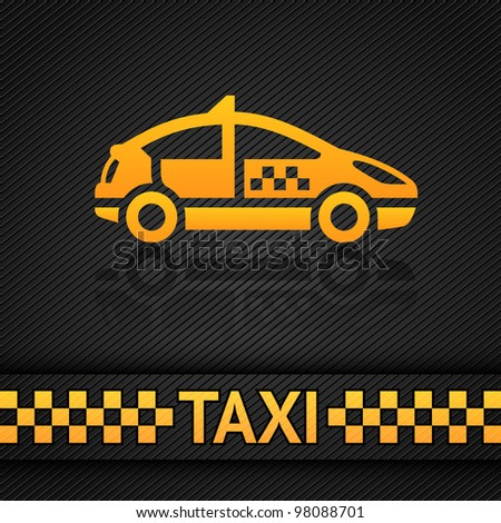 Racing background template, taxi cab vector backdrop. Vector 10eps