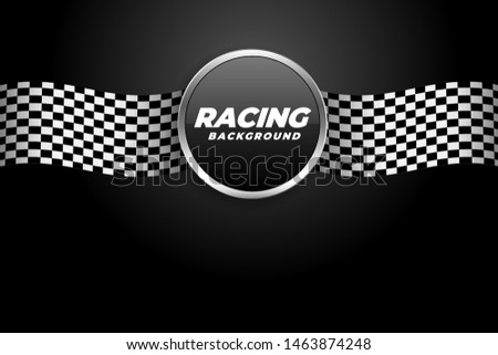 racing background with checkered flags